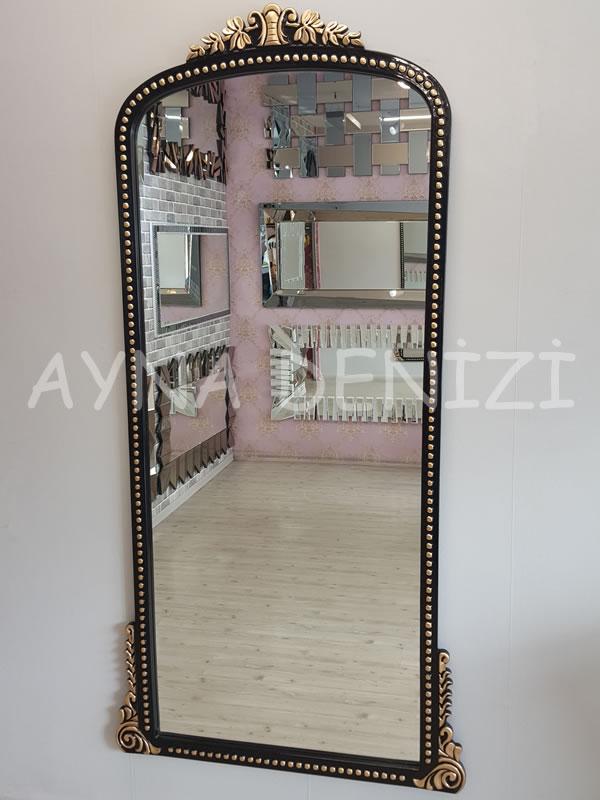 Sinyora Model Siyah Altın Renk Boy Aynası-2