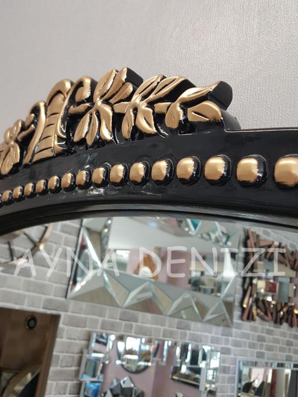 Sinyora Model Siyah Altın Renk Boy Aynası-20