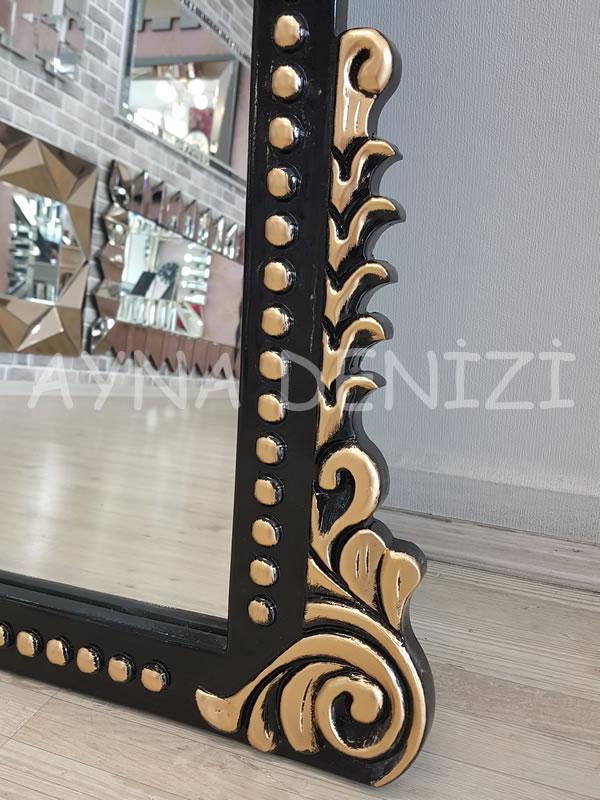 Sinyora Model Siyah Altın Renk Boy Aynası-21