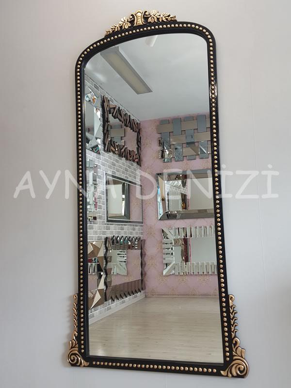 Sinyora Model Siyah Altın Renk Boy Aynası-3