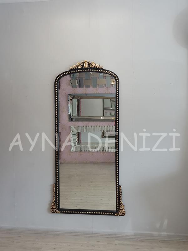 Sinyora Model Siyah Altın Renk Boy Aynası-6