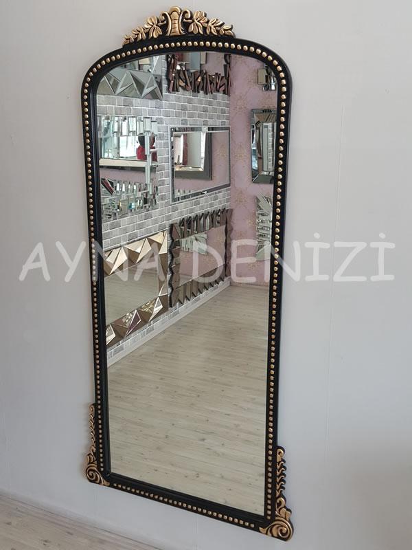 Sinyora Model Siyah Altın Renk Boy Aynası-8