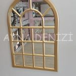 Ancona Model Altın Renk Dekoratif Pencere Ayna-14