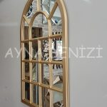 Ancona Model Altın Renk Dekoratif Pencere Ayna-15