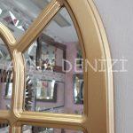 Ancona Model Altın Renk Dekoratif Pencere Ayna-18