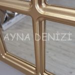 Ancona Model Altın Renk Dekoratif Pencere Ayna-20