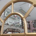 Ancona Model Altın Renk Dekoratif Pencere Ayna-22