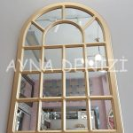 Ancona Model Altın Renk Dekoratif Pencere Ayna-7