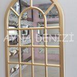 Ancona Model Altın Renk Dekoratif Pencere Ayna-9