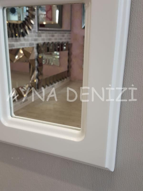 Ancona Model Beyaz Renk Dekoratif Pencere Ayna-16