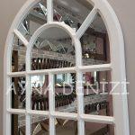 Ancona Model Beyaz Renk Dekoratif Pencere Ayna-17