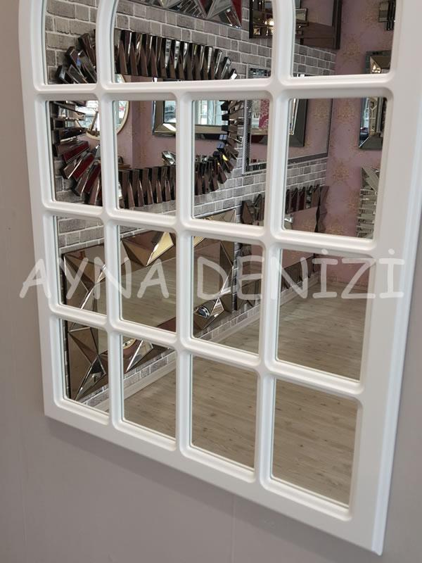 Ancona Model Beyaz Renk Dekoratif Pencere Ayna-18Ancona Model Beyaz Renk Dekoratif Pencere Ayna-18