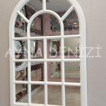 Ancona Model Beyaz Renk Dekoratif Pencere Ayna-2