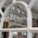 Ancona Model Beyaz Renk Dekoratif Pencere Ayna-20