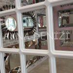 Ancona Model Beyaz Renk Dekoratif Pencere Ayna-21