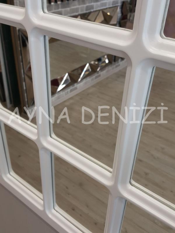 Ancona Model Beyaz Renk Dekoratif Pencere Ayna-23