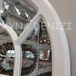 Ancona Model Beyaz Renk Dekoratif Pencere Ayna-24