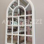 Ancona Model Beyaz Renk Dekoratif Pencere Ayna-5
