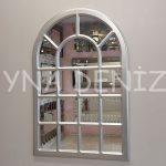 Ancona Model Gümüş Renk Dekoratif Pencere Ayna-1