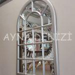 Ancona Model Gümüş Renk Dekoratif Pencere Ayna-16