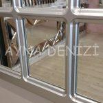 Ancona Model Gümüş Renk Dekoratif Pencere Ayna-21