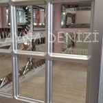 Ancona Model Gümüş Renk Dekoratif Pencere Ayna-22
