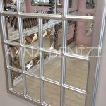 Ancona Model Gümüş Renk Dekoratif Pencere Ayna-8