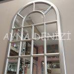 Ancona Model Gümüş Renk Dekoratif Pencere Ayna-9