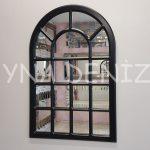 Ancona Model Siyah Renk Dekoratif Pencere Ayna-1