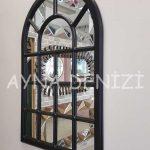 Ancona Model Siyah Renk Dekoratif Pencere Ayna-10