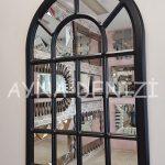 Ancona Model Siyah Renk Dekoratif Pencere Ayna-11