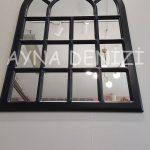 Ancona Model Siyah Renk Dekoratif Pencere Ayna-14
