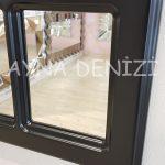 Ancona Model Siyah Renk Dekoratif Pencere Ayna-15
