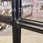 Ancona Model Siyah Renk Dekoratif Pencere Ayna-16
