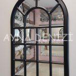 Ancona Model Siyah Renk Dekoratif Pencere Ayna-2