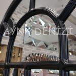 Ancona Model Siyah Renk Dekoratif Pencere Ayna-20