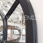 Ancona Model Siyah Renk Dekoratif Pencere Ayna-21