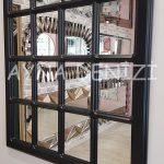 Ancona Model Siyah Renk Dekoratif Pencere Ayna-22