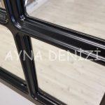 Ancona Model Siyah Renk Dekoratif Pencere Ayna-23