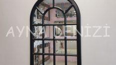 Ancona Model Siyah Renk Dekoratif Pencere Ayna