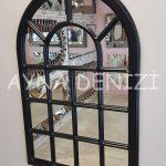 Ancona Model Siyah Renk Dekoratif Pencere Ayna-4