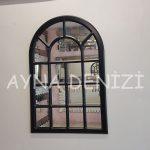 Ancona Model Siyah Renk Dekoratif Pencere Ayna-5