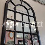 Ancona Model Siyah Renk Dekoratif Pencere Ayna-7