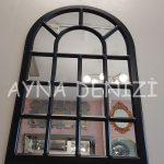 Ancona Model Siyah Renk Dekoratif Pencere Ayna-8