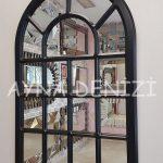 Ancona Model Siyah Renk Dekoratif Pencere Ayna-9