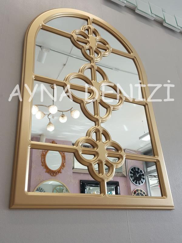 Jerez Model Altın Renk Dekoratif Pencere Ayna-13