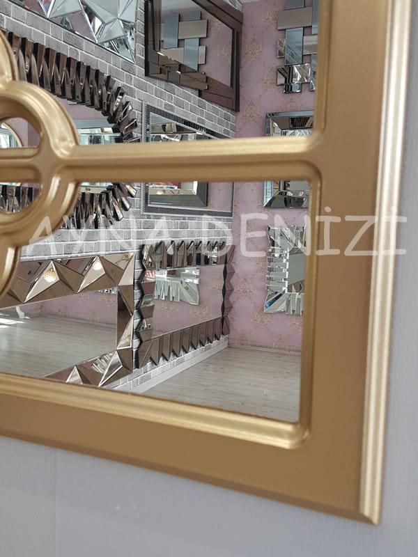 Jerez Model Altın Renk Dekoratif Pencere Ayna-19