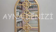 Jerez Model Altın Renk Dekoratif Pencere Ayna