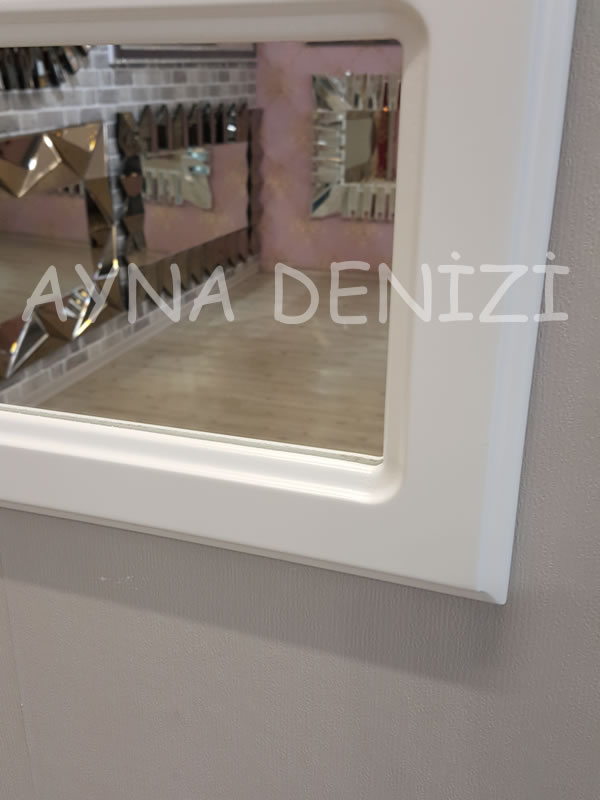 Jerez Model Beyaz Renk Dekoratif Pencere Ayna-13