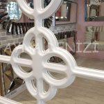 Jerez Model Beyaz Renk Dekoratif Pencere Ayna-14